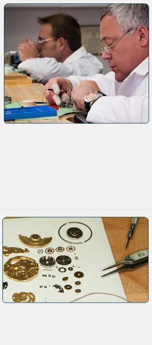 Highly trained and experienced watchmakers